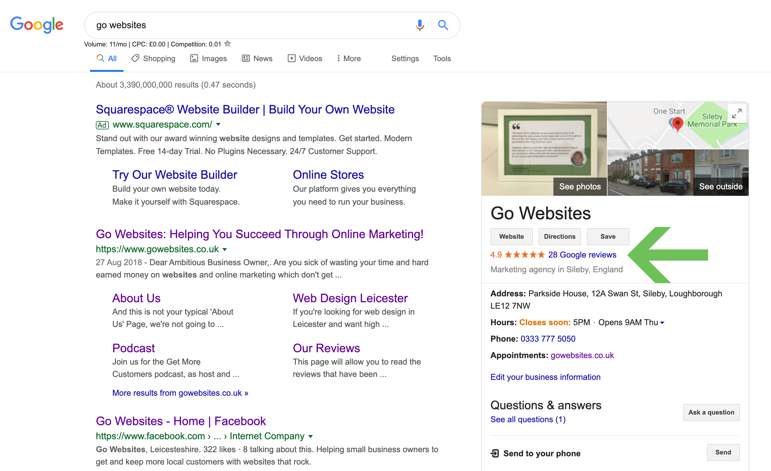 Go Websites Google Result